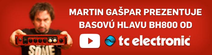 Martin Gašpar prezentuje basovú hlavu TC Electronic BH800