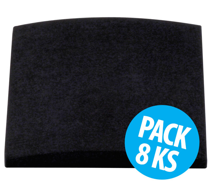 Cinema Round Premium, Black, pack 8 ks