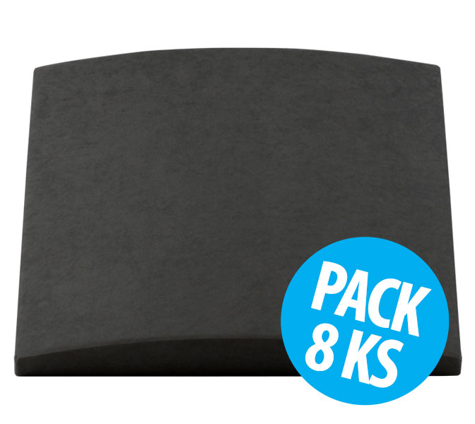 Cinema Round Premium, Grey, pack 8 ks