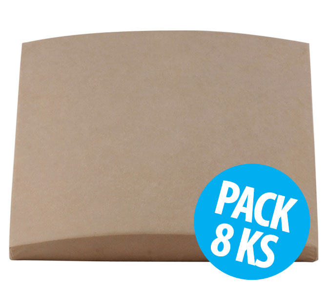 Cinema Round Premium, Beige, pack 8 ks