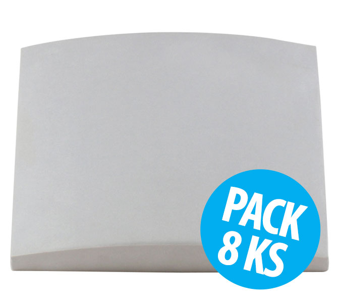 Cinema Round Premium, Natural White, pack 8 ks