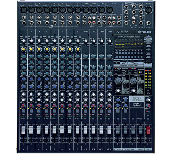 Yamaha EMX5016CF, Power mix 12IN, 2x500W, Digital EQ