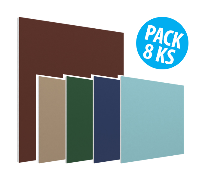 Flat Panel VMT - Solid Retro Colors, pack 8ks